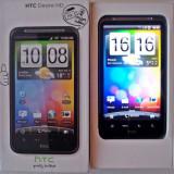 HTC DESIRE HD, in stare foarte buna, necodat!! (+accesorii: casti, incarcator, husa, carcase, baterie de rezerva, capac de rezerva pt baterie) - Telefon mobil HTC Desire HD, Negru, Neblocat