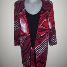 Bluza / tricou; marime 44 (57 cm bust); 95% vascoza, 5% elastan; impecabila - Tricou dama, Culoare: Rosu, Maneca lunga
