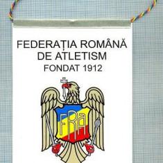 34 New Fanion - FEDERATIA ROMANA DE ATLETISM -FONDAT 1912 -starea care se vede - Fanion atletism