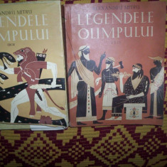 Roman - Legendele Olimpului(2 volume/Zeii-Eroii)-Alexandru Mitru(cu dedicatie si semnatura)
