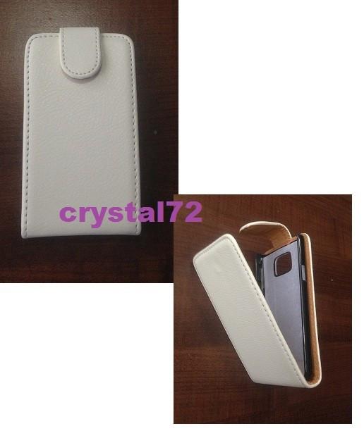Livrare gratuita!!! Husa / toc flip alba pentru Samsung Galaxy S2 I9100/SAMSUNG I9105 GALAXY S2 II PLUS + stylus foto mare