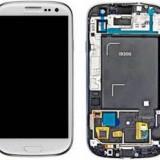 Display LCD, Samsung - Display cu rama si mijloc original samsung galaxy s3 i9300 orice culoare, montaj gratuit si garantie 3luni service gsm