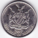 Namibia 5 Cents 2007, flora