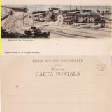 Constanta- Portul in lucrare. Vapoare