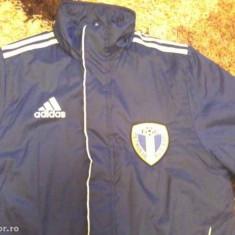 Geaca de iarna Adidas org. Vietnam cu emblema FC Petrolul Ploiesti - Geaca barbati Adidas, Marime: L, Culoare: Albastru, L, Albastru
