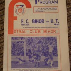 FC Bihor - UT Arad 1978 - Program meci