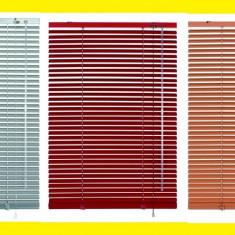 Jaluzea - Jaluzele orizontale PVC diferite marimi, culoare maro deschis/inchis.