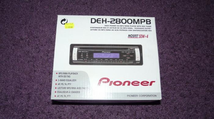 "CD player MP3 Pioneer DEH-2800MPB , fata detasabila.   ""Precedenta Urmatoarea."