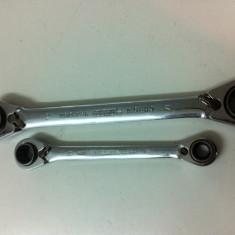 Cheie inelara cu 4 functi si schimbare de sens . Marca ZEBRA, Marime 19, 18, 17, 16mm - Cheie mecanica