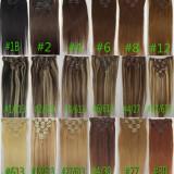 Extensi de par 100% par natural firma remy 50 cm lungime - Extensii par