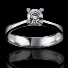 Inel de logodna solitar (solitaire) diamant jumatate carat (0.50ct)