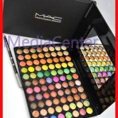 Trusa machiaj profesionala 88 culori MAC trusa farduri 3 D farduri sidefate metalice pigmentate rezistente pe pleoape + CADOU Creion MAC ! - Trusa make up Mac Cosmetics