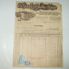 Catela telefonica - Factura Satu-Mare, 1932, Fabrica de dopuri de pluta si de lemn