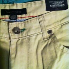 Pantaloni Tommy Hilfiger - Pantaloni barbati Tommy Hilfiger, Marime: 34, Culoare: Bej, Lungi, Bumbac