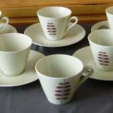 Set / Serviciu- ceai / cafea - portelan Bavaria - 6 persoane