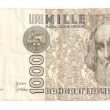 Bancnota Straine, Europa - ITALIA 1000 LIRE 1982 F