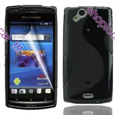 HUSA Sony Ericsson LT29i Xperia XT flip toc neagra negru cu inchidere magnetica ** LIVRARE GRATUITA !!!, Piele Ecologica