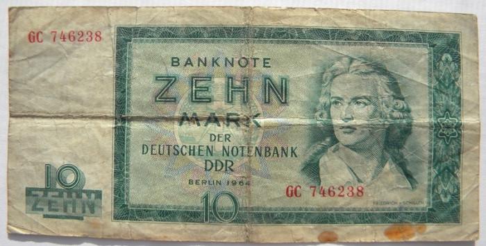 Germania 10 Mark Marci 1964 foto mare