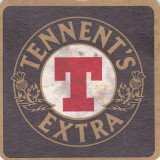 Cartonas de colectie - Suport de pahar / Biscuite TENNENT'S EXTRA