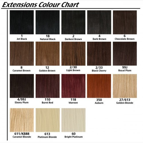 EXTENSII PAR Natural Culoare Ciocolatiu  Saten Blond Brunet Roscat 50cm