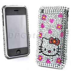 Husa Telefon Apple, Alb - Husa cristale hello kitty iphone 3 3gs + folie protectie ecran