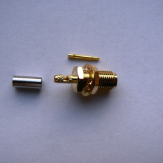 RP - SMA female ( male pin ) crimp RF Adapter for RG174 RG178 RG316 Cable Connector