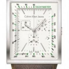 Ceas Calvin Klein tachymeter - Ceas dama Calvin Klein, Piele