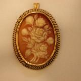 Pandantiv aur - Pandantiv superb vechi camee 18k