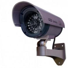 Camera falsa - CAMERE SUPRAVEGHERE PROFESIONALE FALSE 4 BUC/SET model de exterior/interior cu leduri pentru vedere nocturna : foarte realista