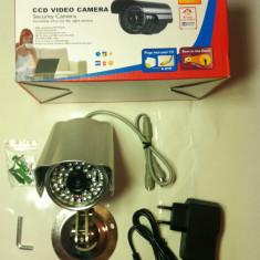 Camera CCTV, Exterior, Cu fir, Color - CAMERA CAMERE DE SUPRAVEGHERE exterior/interior CCD Sony. Infrarosu Suport Alimentator Camera de supraveghere cu senzor SONY . lentila 8 mm.
