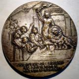 5.367 ROMANIA MEDALIE JUBILEU 50 ANI TINERIMEA ROMANA 1928 60mm