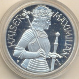 Kaiser Maximilian I argint Austria 1992