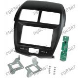 Rama adaptoare Mitsubishi ASX,Mitsubishi Outlander Sport, negru, 2 DIN, cu modulul electronic inclus