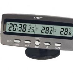 Termometru Auto - Ceas Cu Termometru Interior Exterior Pentru Masina Sau Acasa