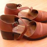 Pantofi de dama SPANIA din piele maro, mărimea 36-37 - Pantof dama, Marime: 36.5