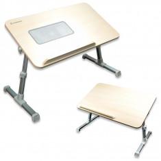 Masa Laptop - MASA PLIABILA pentru LAPTOP, model 2013, PICIOARE AJUSTABILE - BIROU cu SUPORT E-TABLE si COOLER RACIRE- MASA pentru LAPTOP cu VENTILATOR!