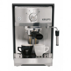 Espressor Krups XP5240, 1400W, 15 bar, 1.1 l, inox/negru - Espressor Manual