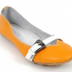 BALERINI PIELE - Balerini dama, Marime: 36, 37, 41, Culoare: Orange
