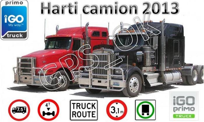 iGO Primo 2.4 2013 Camion/TIR - Soft navigatie GPS pentru Camioane, TIR-uri harti EUROPA si ROMANIA 2013 - setari GABARIT, timpi condus, ADR-uri, FTR foto mare