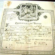 Pasaport/Document, Romania 1900 - 1950 - Certificat de Botez - 7 Aprilie 1913 - Ilfov