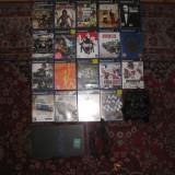 Playstation 2 + 2 Joystick-uri + memory card 8mb + 20 Jocuri, Fat