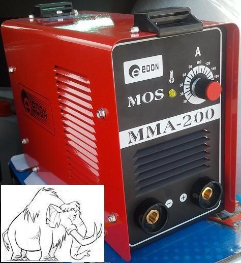 Aparat de sudura Inverter (invertor) eDON MMA-200 de 200 Amperi !!! (cu electrozi inveliti bazici/supertit/inox) foto mare
