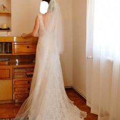 Rochie de mireasa dantela David's Bridal - Rochie de mireasa sirena