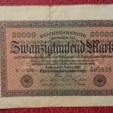 Bancnota Straine - Germania 20000 Mark Marci 1923