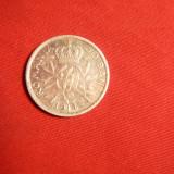 Monede Romania - Moneda 50 Bani 1914 Carol I argint, muchie dreapta, cal.apr.NC
