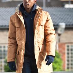 Geaca barbati - Geaca de iarna Urban Classics Parka hip hop timber marimea XL