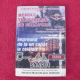 Carti Transporturi - Mersul trenurilor de calatori / C.F.R / 2001-2002