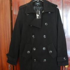 Palton barbati, Lana - Palton barbatesc negru - nou