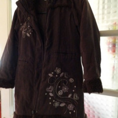 Palton copii 10 ani, Culoare: Maro