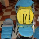 Carucior copii 2 in 1 Graco, 1-3 ani, Pliabil, Albastru, Maner reversibil - Carucior Quattro Tour Sport Complet 2 in 1 - Graco
